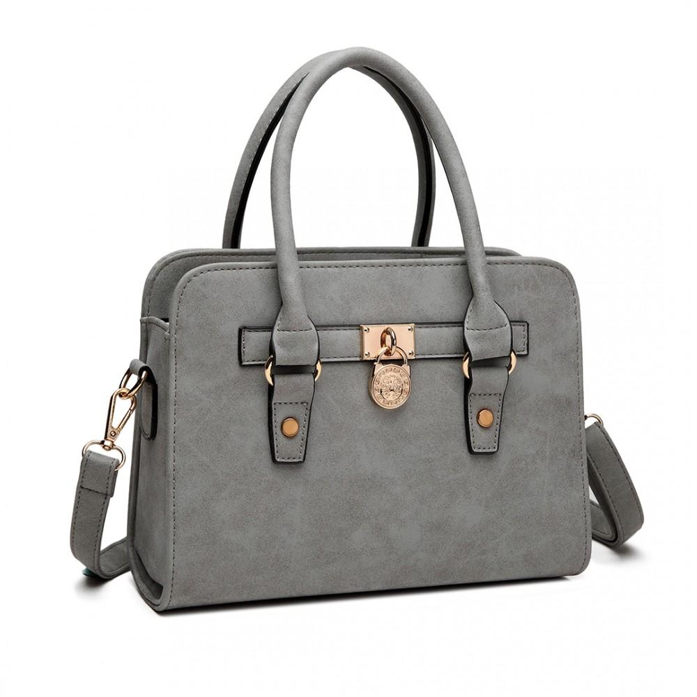 Elegantní malá kabelka z kolekce Miss Lulu - šedá