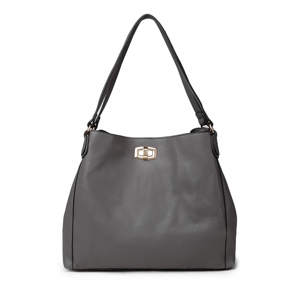 Moderní kabelka z kolekce Miss Lulu - šedá
