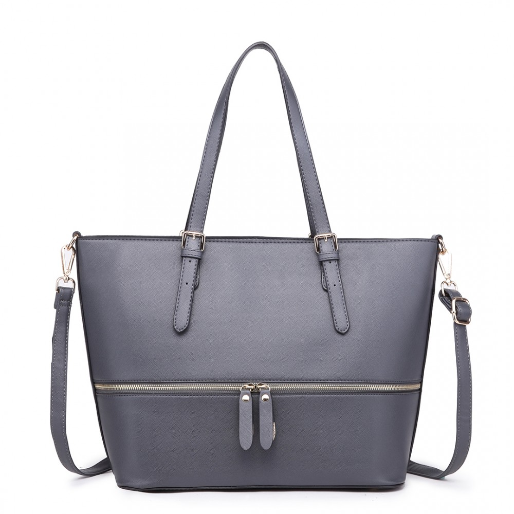 Dámská kabelka shopperka - šedá