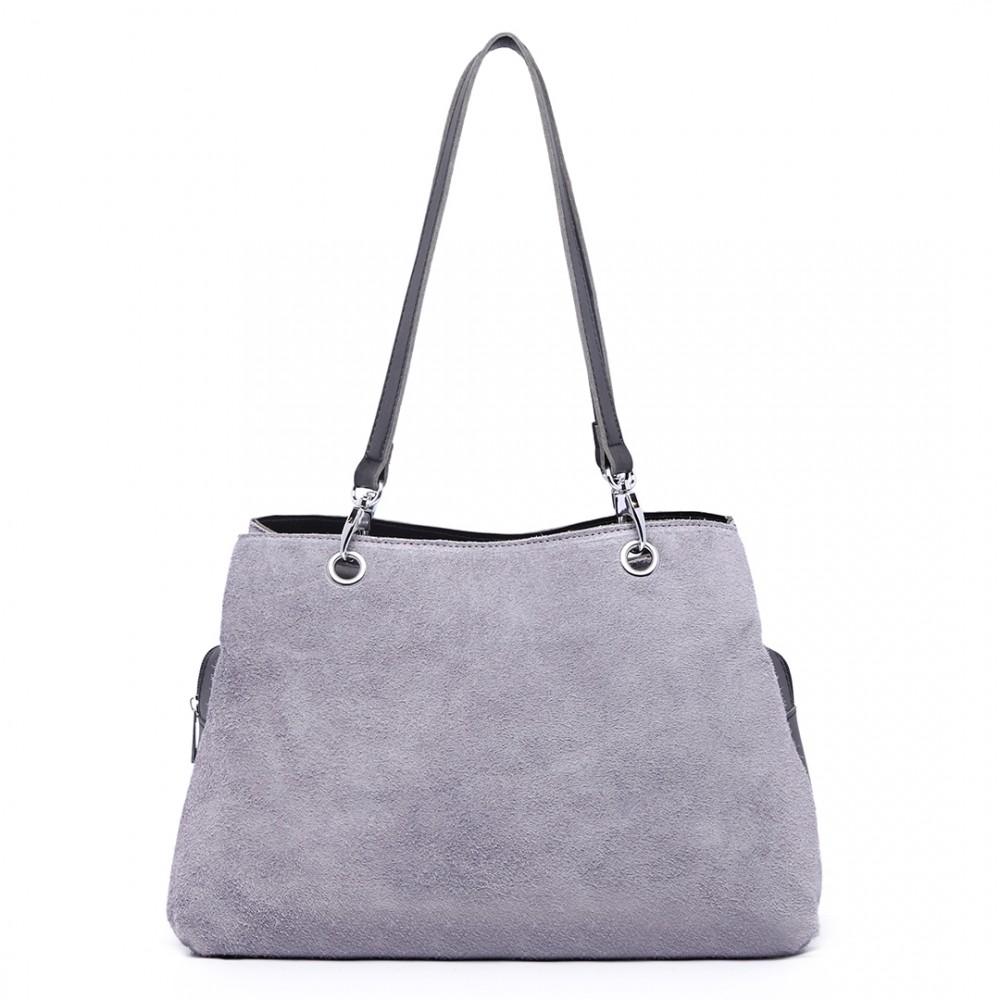 Dámská praktická kabelka z kolekce Miss Lulu - šedá