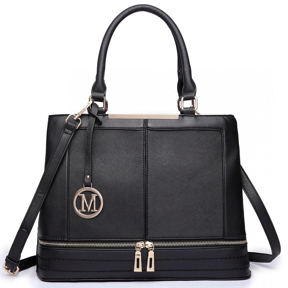 Elegantní dámská kabelka do ruky LT6619 - černá