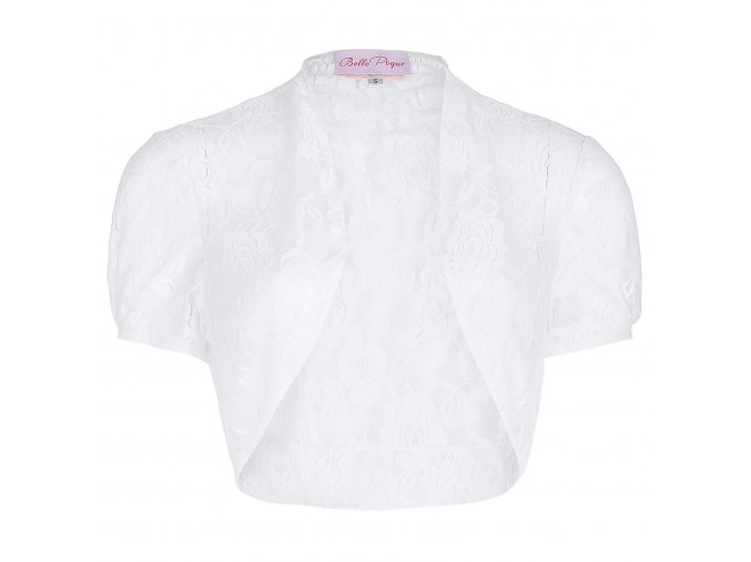 bílé krajkové bolerko B000217 2