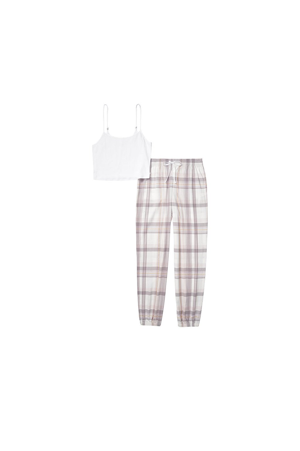 Victoria's Secret pyžamo Flannel Jogger Cami Tee-jama / Pretty Plaid