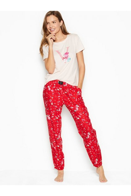 Victoria's Secret pyžamo / Red Starry Floral