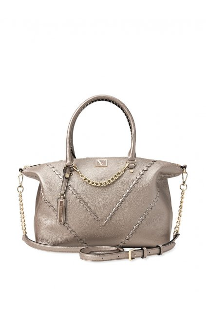 Kabelka Victoria's Secret The Victoria Slouchy Satchel / Stitched Metallic Stitched11189712016C OM F