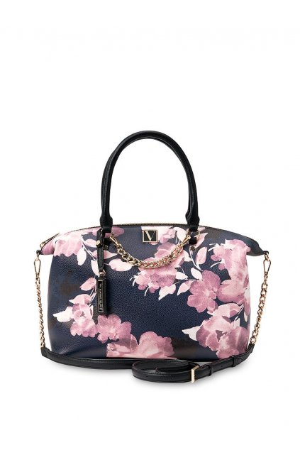 Kabelka Victoria's Secret The Victoria Slouchy Satchel / Floral Midnight Floral