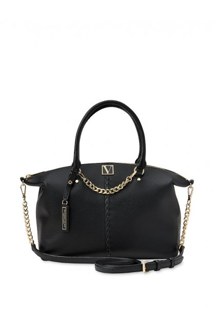 Kabelka Victoria's Secret The Victoria Slouchy Satchel / Black Stitched