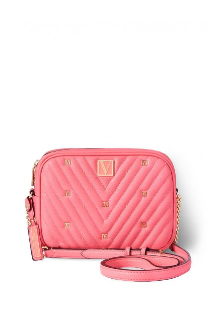 Victoria's Secret Top Zip Crossbody / Hot Peony