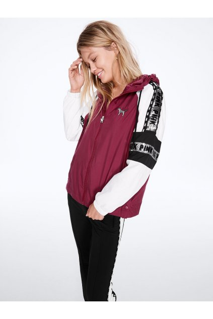 Victoria's Secret PINK BLING CAMPUS FULL-ZIP ANORAK