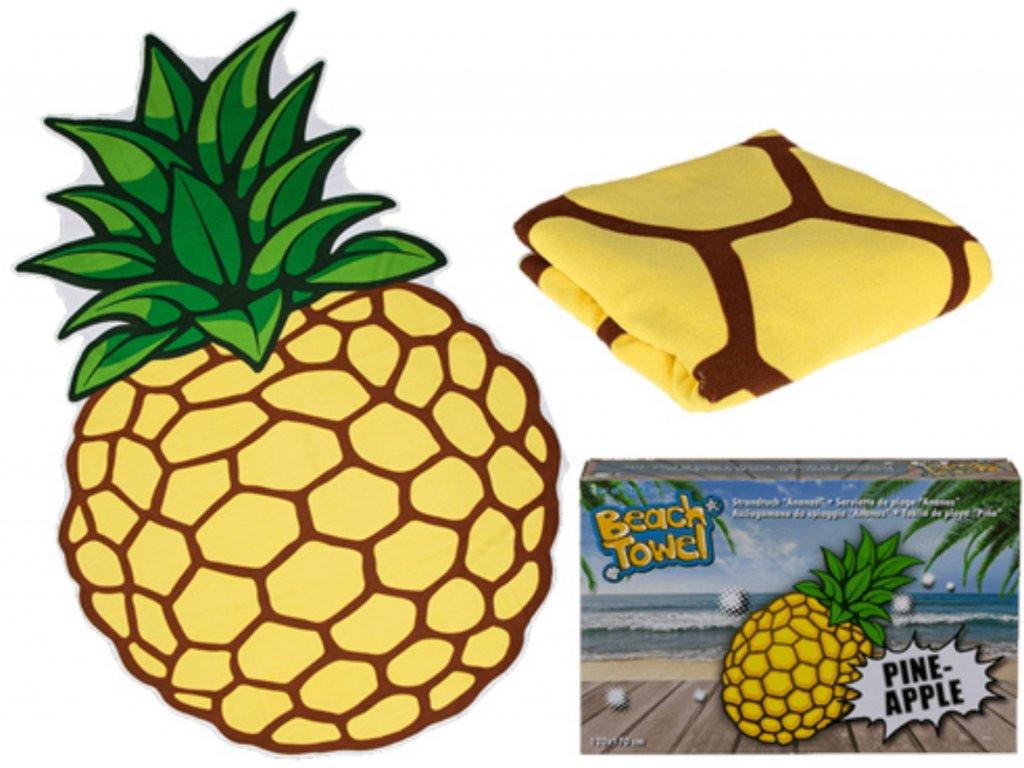 Plážová osuška Ananas 160 x 110 cm