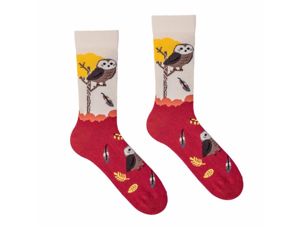 Veselé ponožky Sova