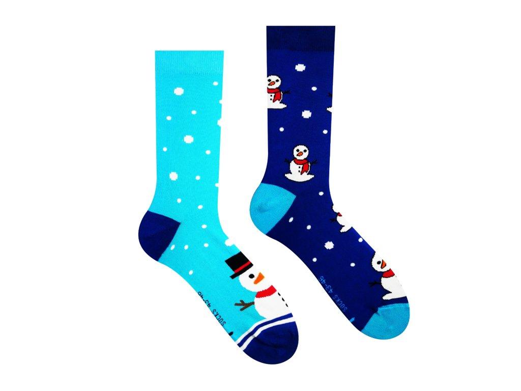 Veselé ponožky Sněhulák