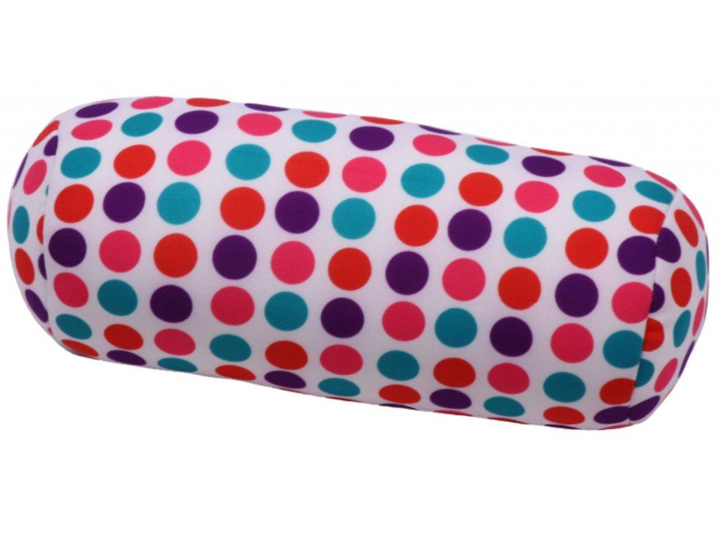 Relaxační polštář válec - puntíky