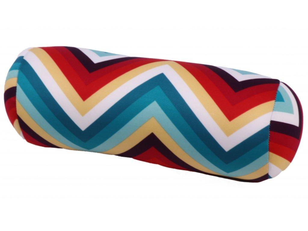 Relaxační polštář válec - barevné proužky