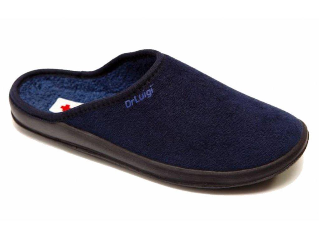 Zdravotní domácí obuv Dr. Luigi - tmavě modrá (Velikost 38)