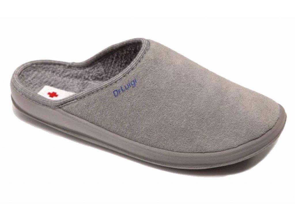 Zdravotní domácí obuv Dr. Luigi - šedá (Velikost 38)