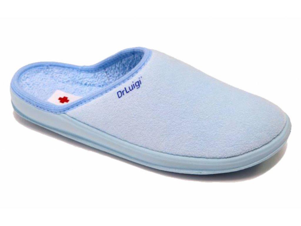 Zdravotní domácí obuv Dr. Luigi - světle modrá (Velikost 38)