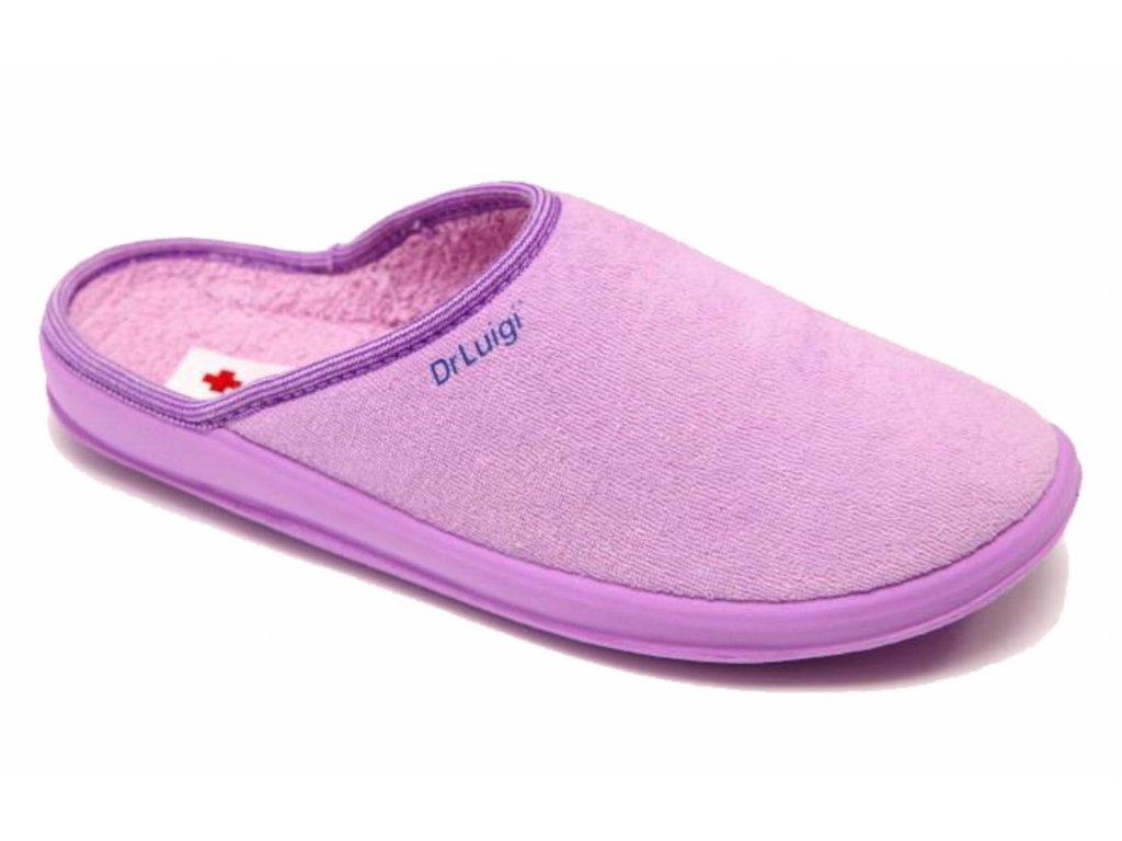 Zdravotní domácí obuv Dr. Luigi - fialová (Velikost 38)