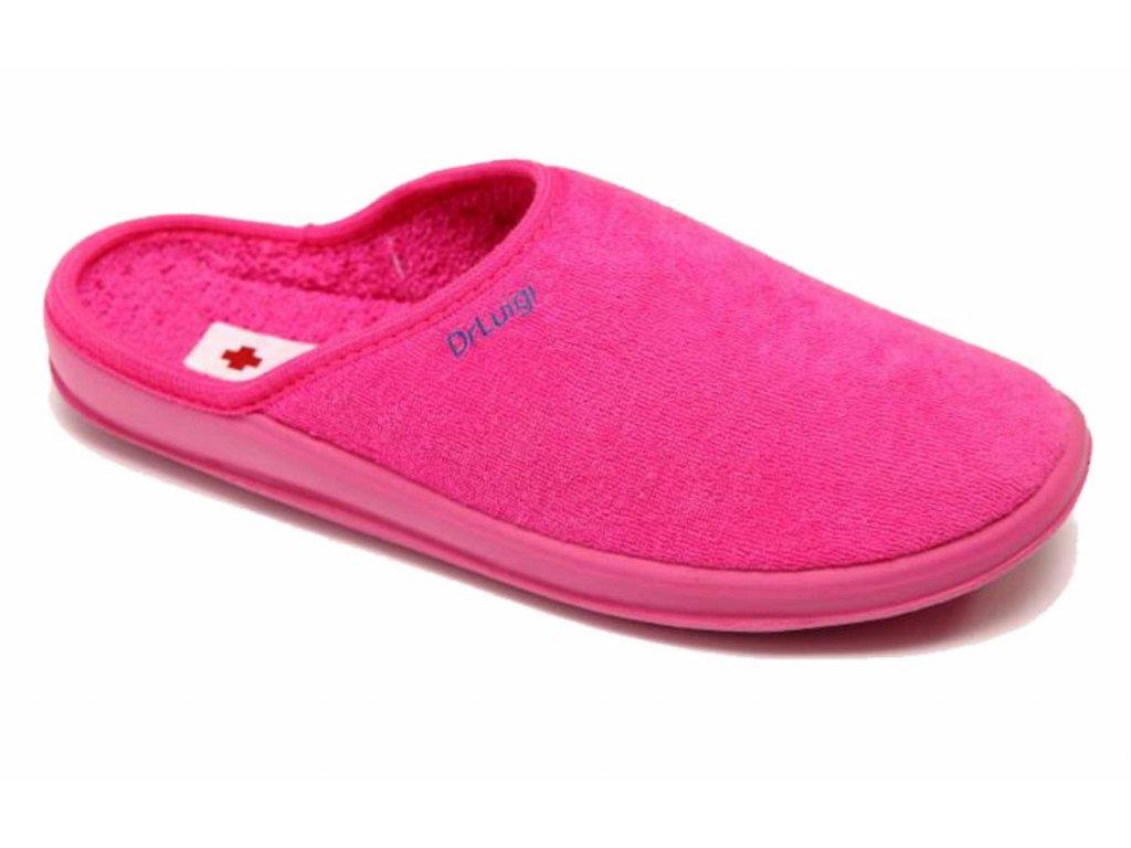 Zdravotní domácí obuv Dr. Luigi - růžová (Velikost 38)