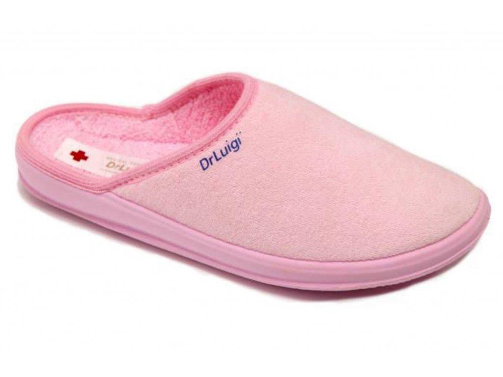 Zdravotní domácí obuv Dr. Luigi - světle růžová (Velikost 38)