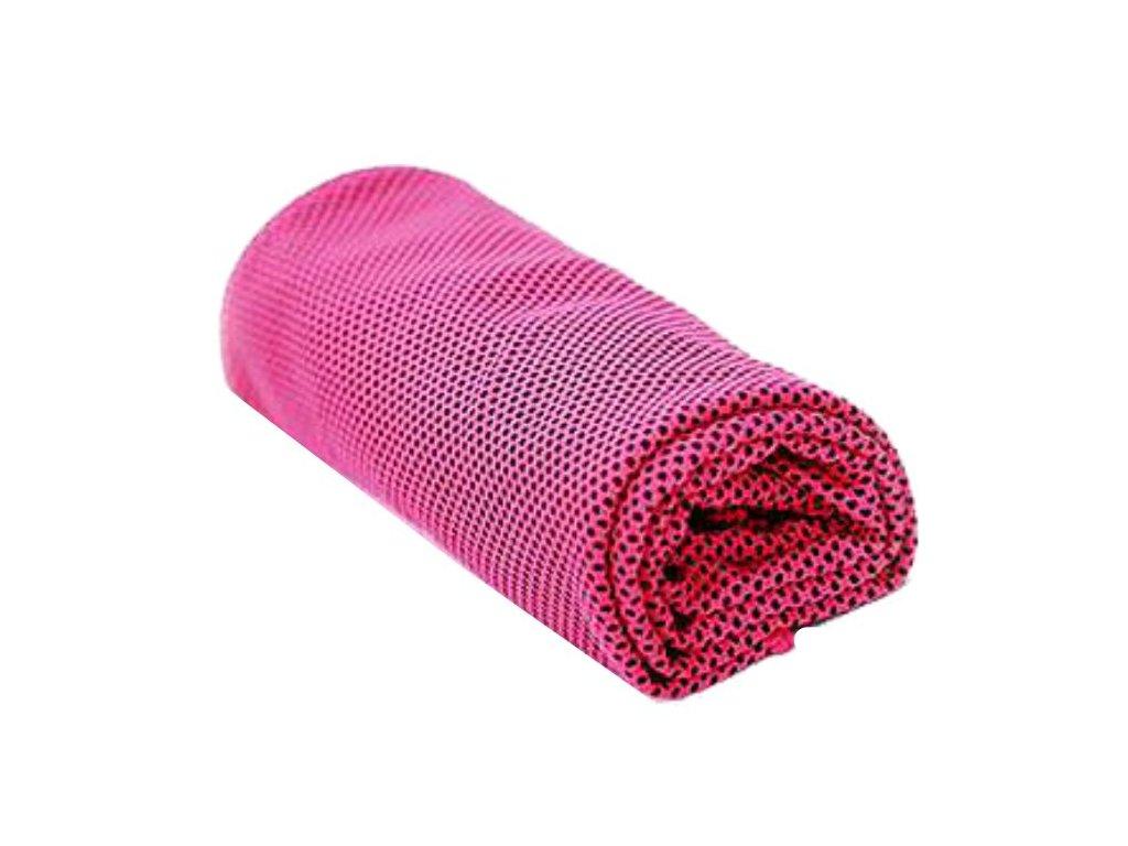 Chladící ručník růžový 32 x 90 cm
