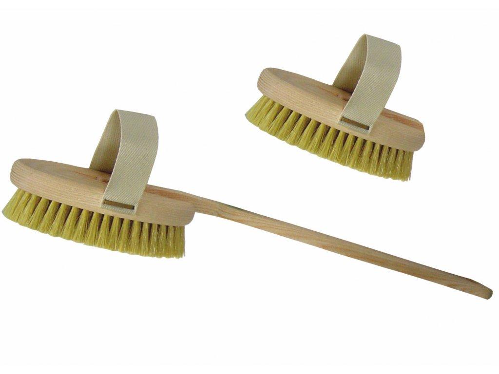 Dřevěný kartáč na mytí zad s odnímatelnou rukojetí