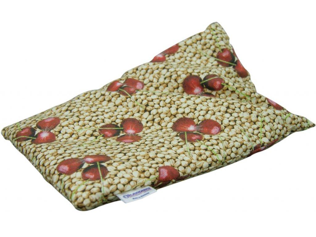 Nahřívací polštářek s třešňovými peckami 20 x 30 cm