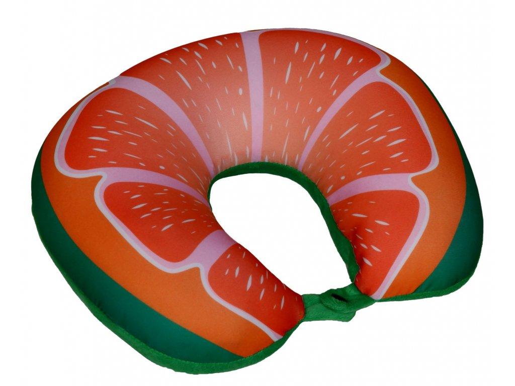 Cestovní polštář podkova - ovoce