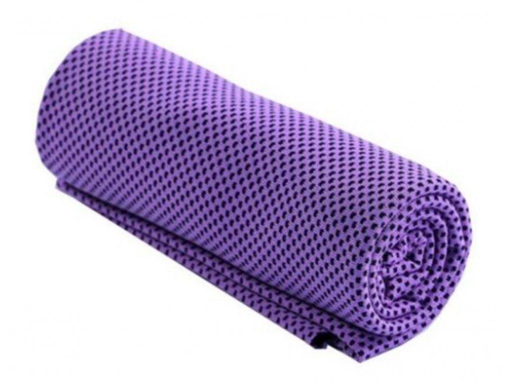 Chladící ručník fialový 32 x 90 cm