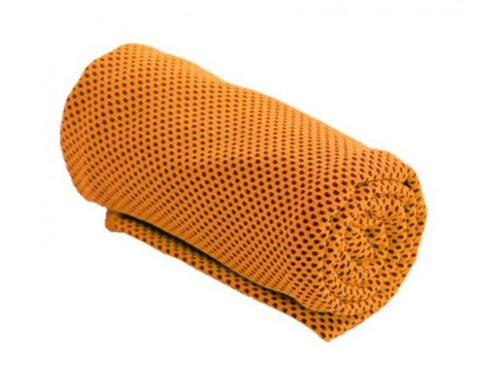 Chladící ručník oranžový 32 x 90 cm