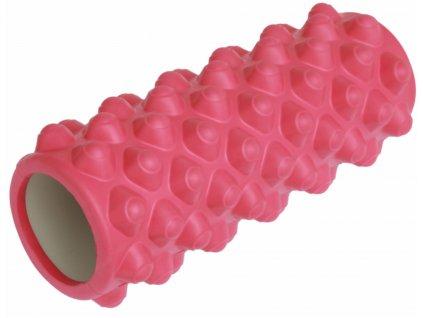 Fitness masážní válec 33 x 14 cm, růžový