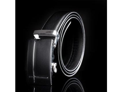 Pánský kožený pásek s kovovou přezkou KZ007