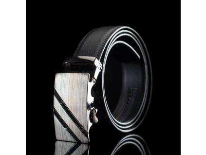 Pánský kožený pásek s kovovou přezkou KZ005