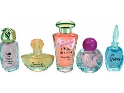 Dárková sada francouzských parfémů Charrier Parfums, 5 ks