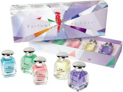 Dárková sada francouzských parfémů de Luxe Charrier Parfums, 5 ks