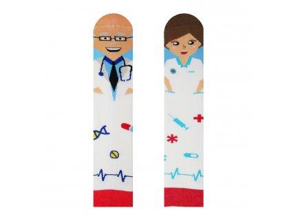 Veselé ponožky Doktor a Sestřička