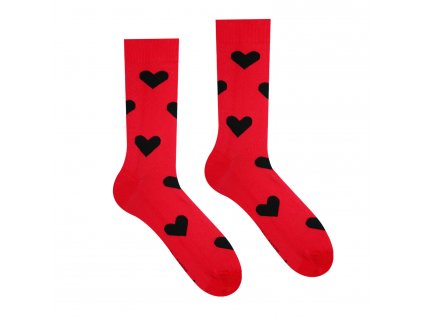 Veselé ponožky Srdíčko, červené