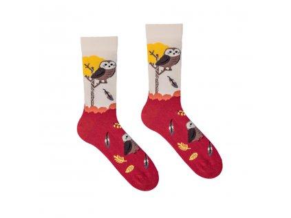 Veselé ponožky Sova - dětské