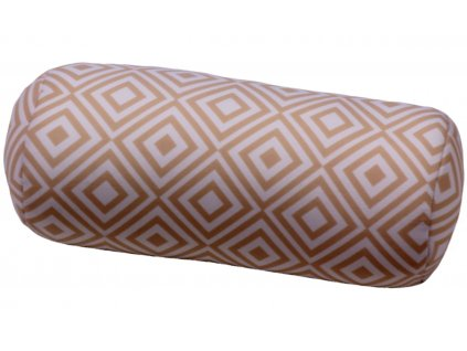 Relaxační polštář válec - béžové kostky
