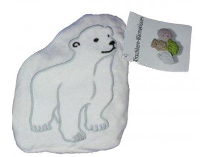 Nahřívací polštářek s třešňovými peckami Lední medvěd
