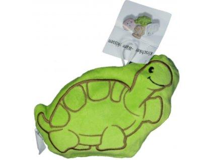 Nahřívací polštářek s třešňovými peckami Želva