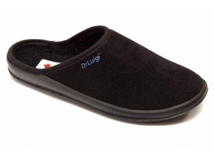 Zdravotní domácí obuv Dr. Luigi - černá (Velikost 38)