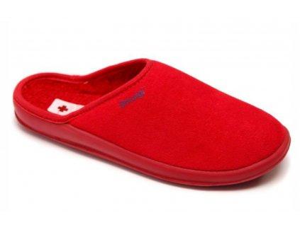 Zdravotní domácí obuv Dr. Luigi - červená (Velikost 38)