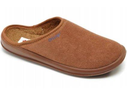Zdravotní domácí obuv Dr. Luigi - hnědá (Velikost 43)
