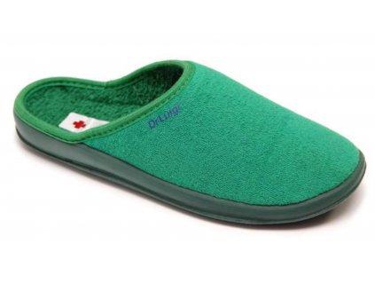 Zdravotní domácí obuv Dr. Luigi - zelená (Velikost 38)