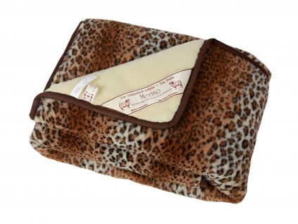 Denní deka Leopard/MERINO 140cm x 200cm