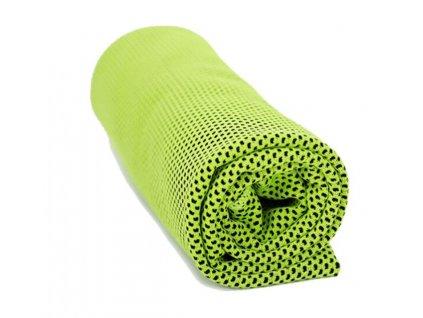 Chladící ručník zelený 32 x 90 cm