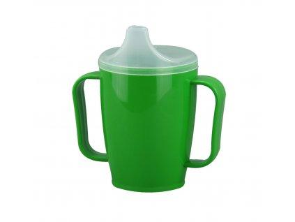 Hrnek s pítkem se dvěma víčky 250 ml, zelený