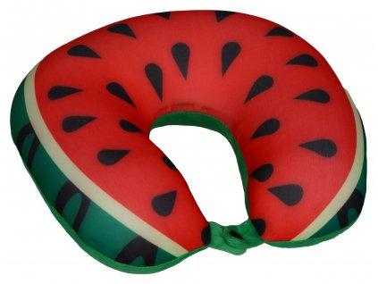 Cestovní polštář podkova - meloun