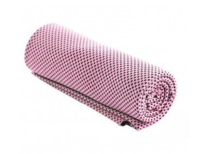 Chladící ručník světle fialový 32 x 90 cm
